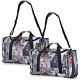 2x Set of 5 Cities/Frenzy Large Super Lightweight Ryanair Cabin Holdall Carry On Travel Holiday Bag, ideal for Weekend/ Overnight/Gym & Sports luggage with Optional Shoulder Strap