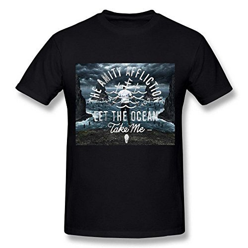 Men's Amity Affliction Let The Ocean Take Me Poster Black T Shirt