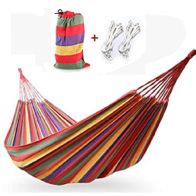 Changeshopping(TM)Portable Cotton Rope Outdoor Swing Fabric Camping Hanging Hammock Canvas Bed