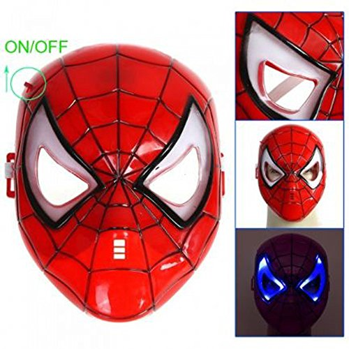 Avengers Spiderman Hero LED Light up Mask, Red