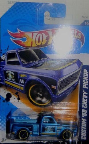2011 MATTEL HOT WHEELS CUSTOM 1969 CHEV ELECTRIC PICKUP 140/247 & 10/10 in series - 1