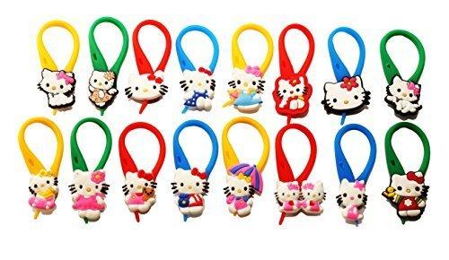 16 pezzi Hello Kitty Colorato Soft Zipper Pull Pendaglio di Zaino di Giacca