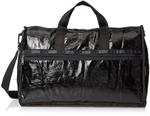 lesportsac-grande-borsone-brevetto-ondulato-colore-nero