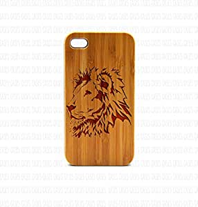 Krezy Case Real Wood iPhone 5c Case, Aggressive Lion iPhone 5c Case, Wood iPhone 5c Case, Wood iPhone Case