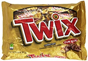Twix Caramel Fun Size Candy, 11.4-Ounce Packages (Pack of 5)