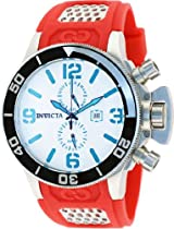 Invicta Corduba GMT Silver Dial Stainless Steel Red Rubber Mens Watch 80209
