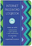 Internet Password Logbook - Pattern Edition: Keep track of: usernames, passwords, web addresses in one easy & organized location