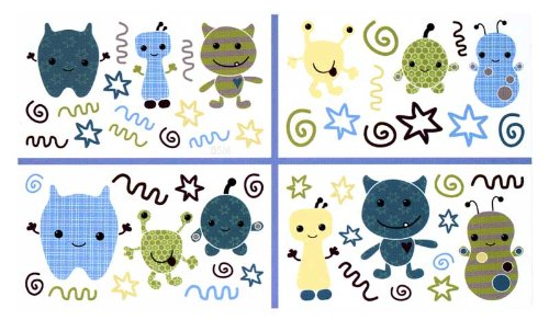 CoCaLo Peek A Boo Monsters Wall Appliques - 1