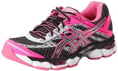 ASICS Women's GEL-Cumulus 15 Lite-Show Running Shoe,Black/Onyx/Flash Pink,9 M US
