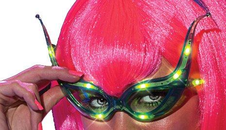 Rubie's Costume Alien Raver Light-Up Glasses, Multi, One Size