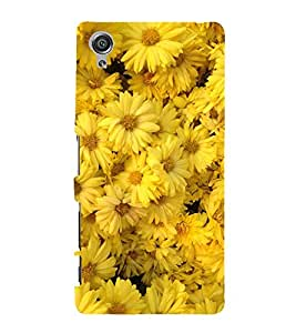 BOOMING MARRIGOLD FLOWERS FIELD IN SUNLIGHT 3D Hard Polycarbonate Designer Back Case Cover for Sony Xperia X::Sony Xperia X Dual F5122 with dual-SIM card slots