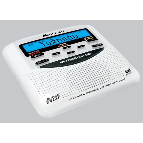 Midland Consumer Radio WR-120B NOAA Weather Alert All Hazard Public Alert Certified Radio with SAME, Trilingual Display and Alarm Clock - Box Packaging