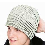 (ハイ クルーズ) HIGH CRUISE シンプル ニット帽子 メンズ レディース 用 伸縮性 スポーツ ストリート 5カラー ワッチキャップ ビーニーキャップ 小顔 ダボつき (グレー)