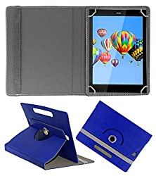 ACM ROTATING 360° LEATHER FLIP CASE FOR DIGIFLIP PRO XT811 TABLET STAND COVER HOLDER DARK BLUE
