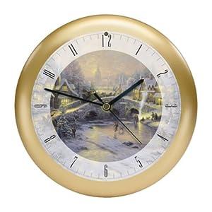 "Thomas Kinkade Spirit of Christmas Musical Christmas Carol Clock-8"""