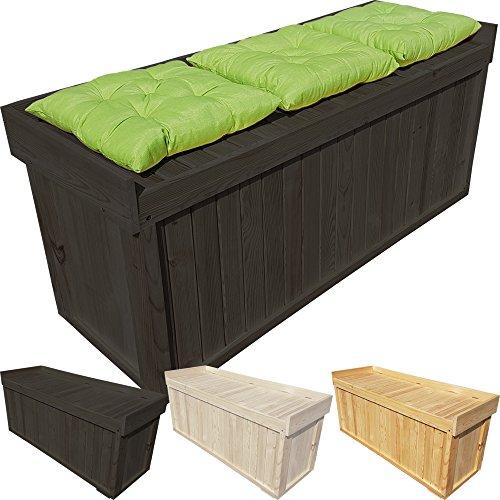 proheim auflagen box mit sitz aus 100 fsc holz stabile. Black Bedroom Furniture Sets. Home Design Ideas