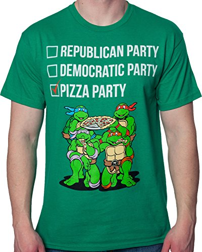 TMNT Vote Pizza Party T-Shirt