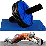 Evana TOTAL BODY FITNESS WORKOUT - Ab Roller Ab Wheel Abdominal Workout Roller For Ab Exercises. CUSHIONED HANDLES...