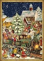 Victorian Christmas Train German Advent Calendar from Sellmer Verlag