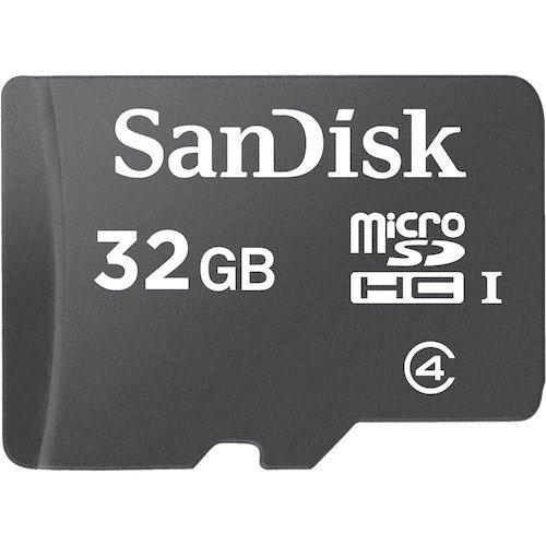 SanDisk 32GB MicroSDHC High Speed Class 4 Card with MicroSD to SD Adapter (Color: Black, Tamaño: 16GB)