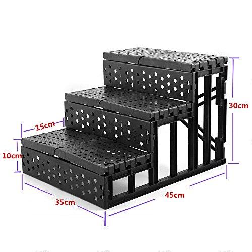 pour chien pliable l ger 3 marches escalier rampe portable pet chelle avec housse en peluche. Black Bedroom Furniture Sets. Home Design Ideas