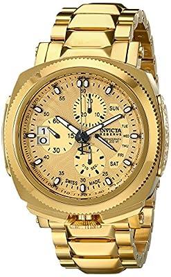 Invicta Men's 12701 Reserve Analog Display Swiss Quartz Gold Watch