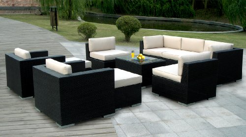 $Cheapest Genuine Ohana Outdoor Patio Wicker Sofa Sectional Furniture 10pc Go