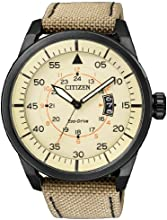 Comprar Citizen  0 - Reloj de cuarzo para hombre, con correa de tela, color marrón