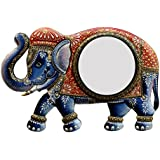 Ghanshyam Art Wood Elephant Wall Mirror (45.72 Cm X 4 Cm X 30.48 Cm, GAC072)