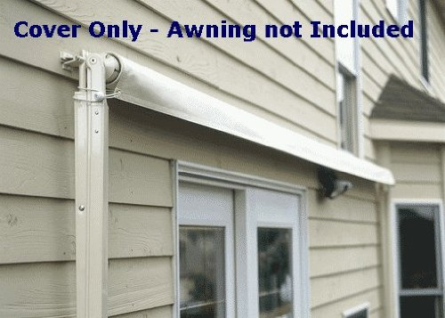 SunSetter - SS-COV-14-S - Soffit Mount Retractable Patio Awning Cover - Off White - 14 ft.