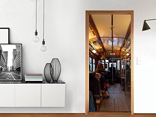 t r schutz klebefolie 83 5 x 197 cm design folie lisbon tram m beldekoration. Black Bedroom Furniture Sets. Home Design Ideas