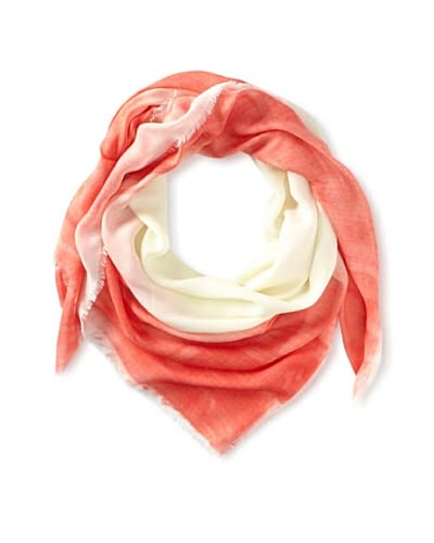 Kenneth Jay Lane Women's Ombre Scarf, Coral Multi