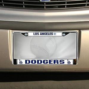 MLB L.A. Dodgers Chrome License Plate Frame-