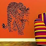 Leopard Interior Vinyl Decal / Stylish Interior Graphic / Large Art Decor CA8