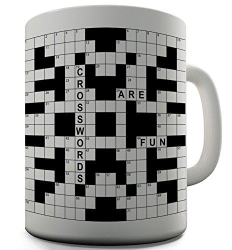 Crosswords Funny Design Novelty Gift Tea Coffee Office Mug