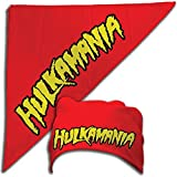 "Hulk Hogan ""hulkamania"" bandana, Red, One Size"