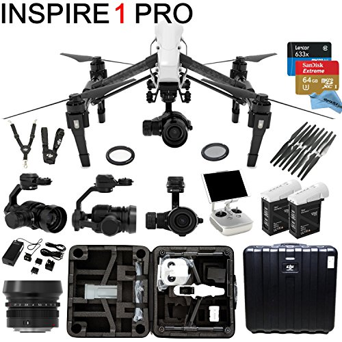 DJI-Inspire-1-PRO-Bundle-with-Zemuse-X5-4K-Camera-2-Batteries-Professional-Hard-Case-64GB-Extreme-MicroSD-Card-and-more