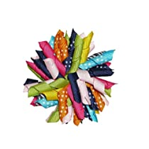 3.5 Candy Shoppe Korker Girls Hair Bow Clip
