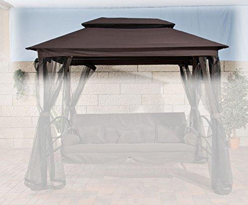 CLP Ersatz-Dach Hollywoodschaukel KENIA (Breite: 258 cm, Tiefe: 172 cm, Höhe: 237 cm) braun günstig bestellen