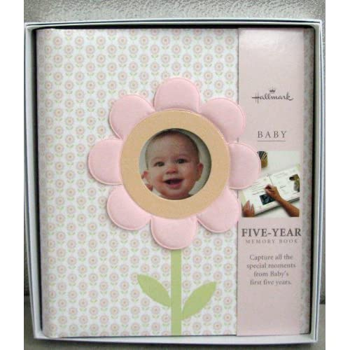 Baby BBA3879 Pink Garden 5 Year Memory Book - Baby Photo Albums
