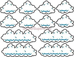 SUPER MARIO Bros CLOUDS set Decal Removable WALL STICKER Home Decor Art Kids C567, Large