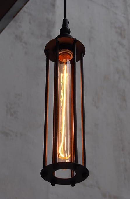 MSAJ-Viento industrial Vintage ara?a Alcatraz isla creativa luces punk vertical l¨¢mpara hierro forjado conjuntos comedor