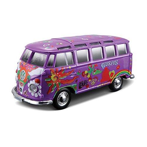 VW Samba Bus púrpura del Hippie Línea Maisto 1:25 coche modelo [juguetes]