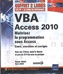 VBA Access 2010 - Coffret de 2 livres...