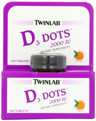 Twinlab Vitamin D3 Dots, 2000 IU, 100-Count (Twinlab Vitamin D compare prices)