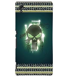 Fuson 3D Printed Skull Designer back case cover for Sony Xperia Z4 - D4183