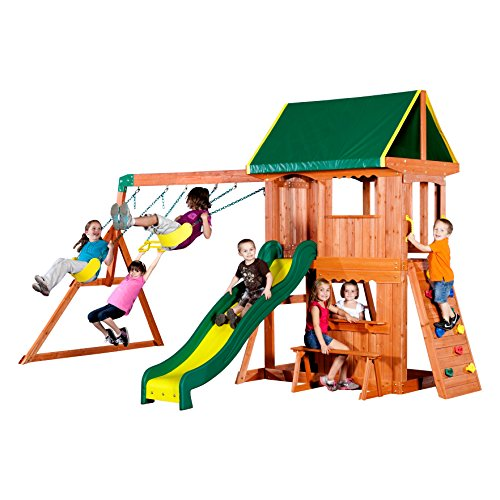 Backyard-Discovery-Somerset-All-Cedar-Wood-Playset-Swing-Set