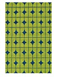 Loloi VENIVB-03LLBB2339 Area Rug, 2-Feet 3-Inch by 3-Feet 9-Inch, Lime/Blue