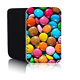 Biz-E-Bee Exclusive 'Smarties Sweets' [PPW] AMAZON KINDLE 4 & 5 (2012, 2013, 2014) Shock / Water Resistant Neoprene Tablet Case, Cover, Pouch UK