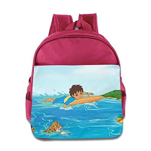 [Go, Diego, Go Diego Marquez Kids School Bag Pink] (Dora Diego And Boots)
